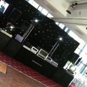 STARCLOTH, MOVING HEADS, PLASMAS AND TRUSS SHOW