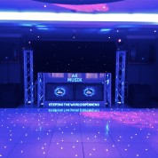 Led dancefloors, truss stands, plasma booth, plasmas