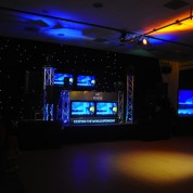 PLASMA BOOTH, PLASMAS, PROJECOTR SCREENS, TRUSS, MOVING HEADS