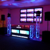 PLASMA WALL, PLASMA BOOTH, MOVING HEADS, TRUSS