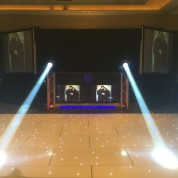 Bellhouse hotel, led dancefloor, 4x led beams, projectors, plasma booth, full ev sound, starcloth