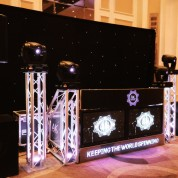 Plasma booth, starcloth, 4 moving heads