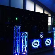 Plasma booth, starcloth